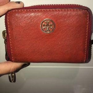 Orange Tory burch wallet
